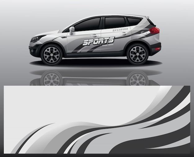 Projekt Opakowania Na Samochód Premium Wektorów