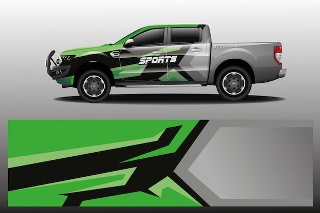 Projekt opakowania samochodu ciężarowego dla firmy Premium Wektorów