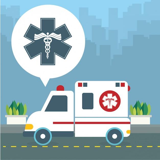Projekt opieki zdrowotnej Premium Wektorów
