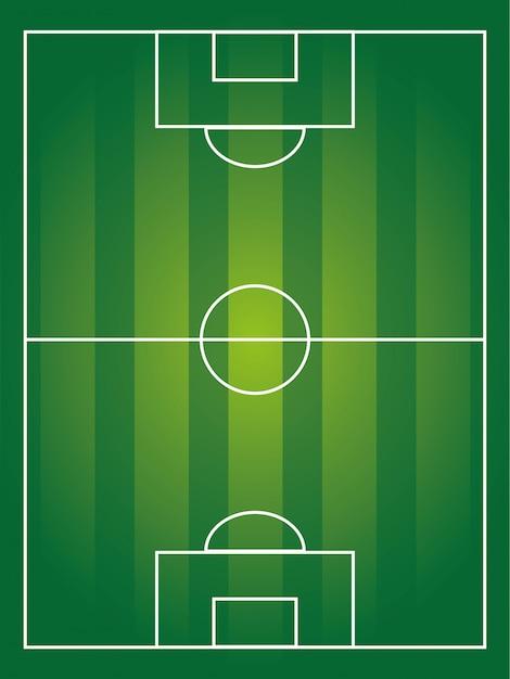Projekt piłka nożna nad pole tło wektor ilustracja Premium Wektorów