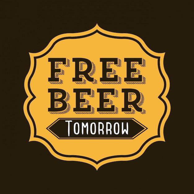 Projekt piwa na czarnym tle ilustracji wektorowych Premium Wektorów