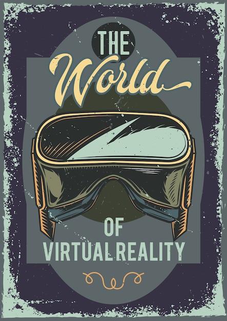 Projekt Plakatu Z Ilustracją Okularów Vr Darmowych Wektorów
