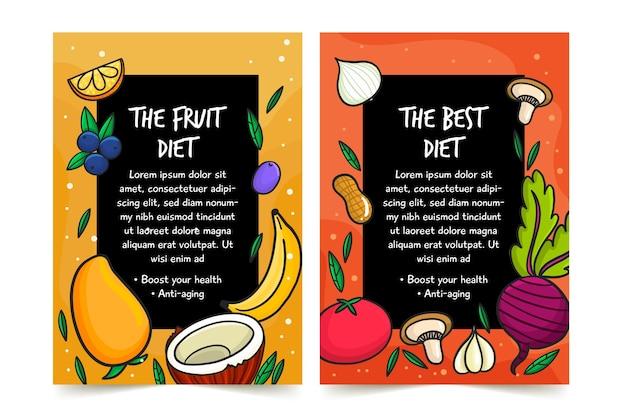 Projekt Plakatu Zdrowej żywności Darmowych Wektorów