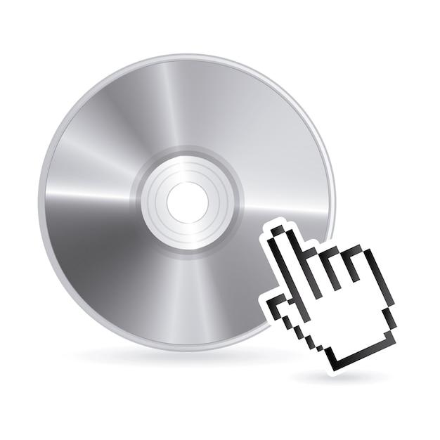 Projekt płyty kompaktowej na białym tle Premium Wektorów
