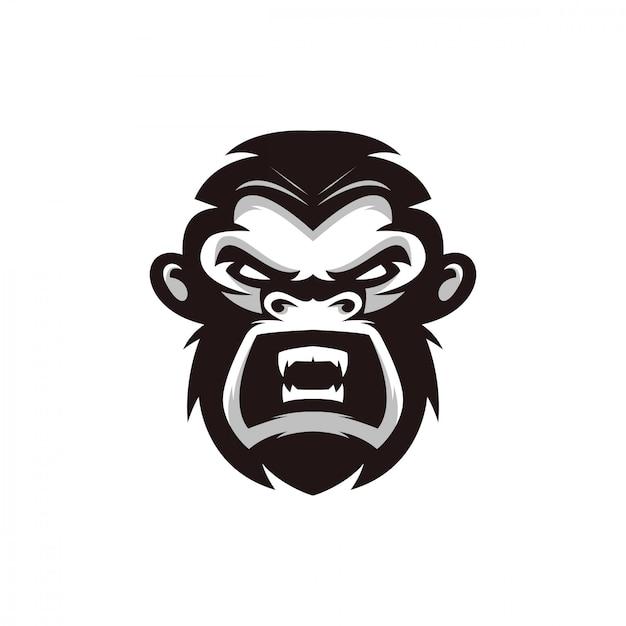 Projekt Postaci Głowy Małpy Premium Wektorów