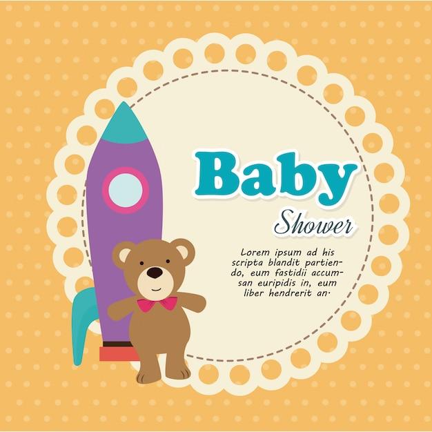 Projekt Prysznica Dla Dzieci Premium Wektorów