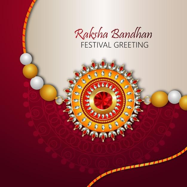 Projekt Rakhi Dla Happy Raksha Bandhan Premium Wektorów