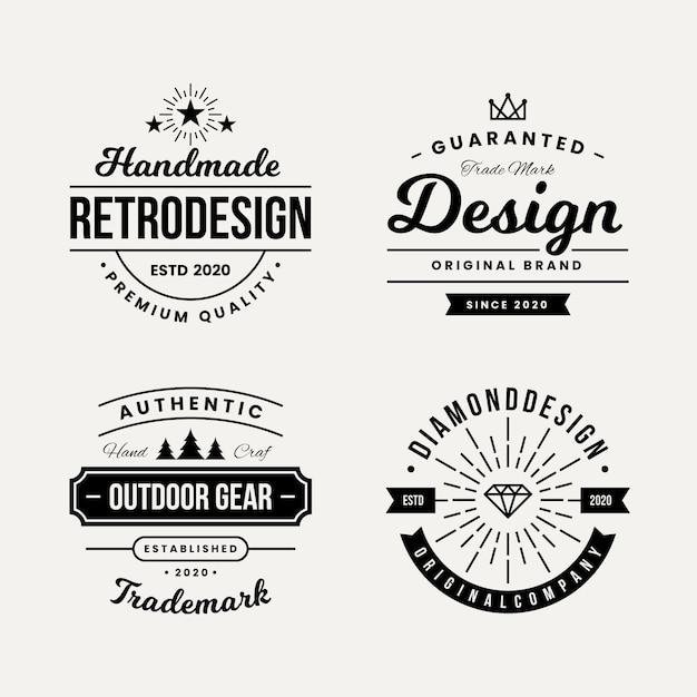 Projekt Retro Do Kolekcji Logo Darmowych Wektorów