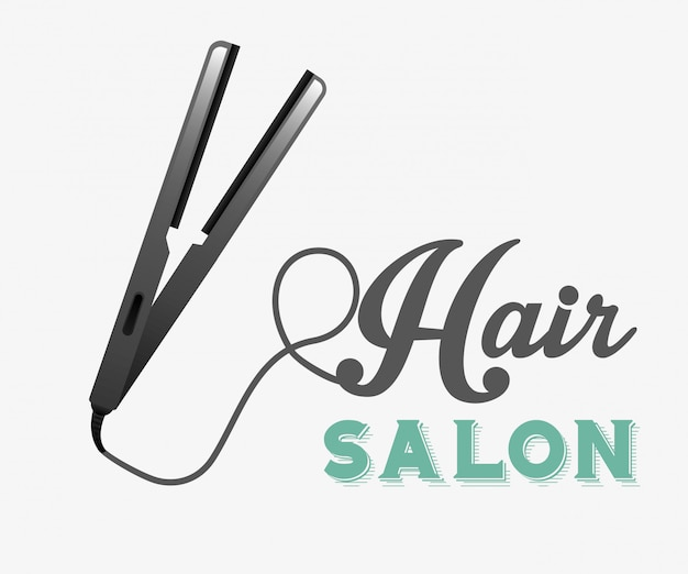 Projekt salonu fryzjerskiego Darmowych Wektorów
