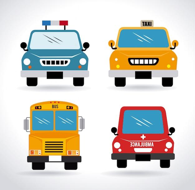 Projekt Samochodów Premium Wektorów