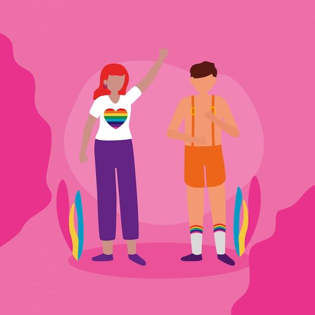 Projekt Społeczności Queer Lgbtq Darmowych Wektorów