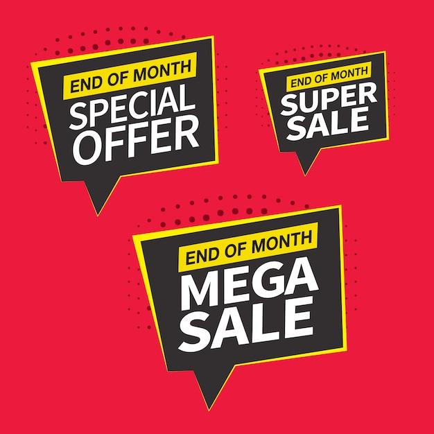 Projekt Sprzedaży, Oferty Specjalnej I Banerów Cenowych Premium Wektorów