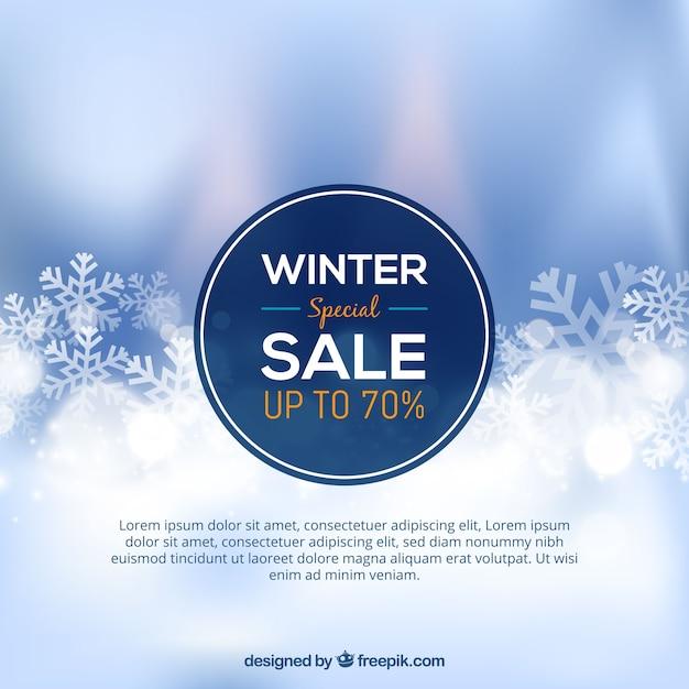 Projekt Sprzedaży Zimowy Rozmyte Premium Wektorów