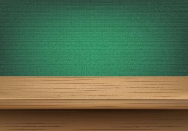 Projekt Stół Z Drewna Z Tłem Premium Wektorów