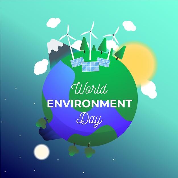 Projekt światowego Dnia środowiska Darmowych Wektorów