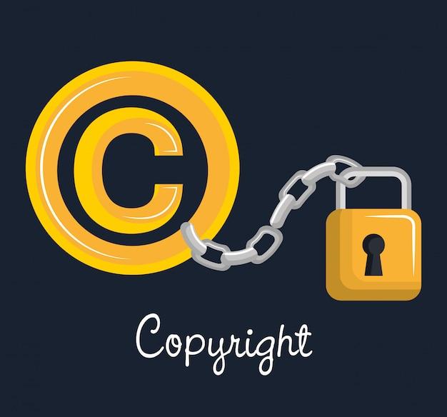 Projekt symbolu praw autorskich Premium Wektorów