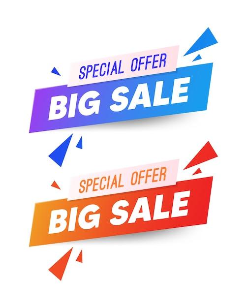 Projekt Szablonu Banera Sprzedaży, Super Wyprzedaż, Baner Z Ofertą Specjalną Na Koniec Sezonu Premium Wektorów