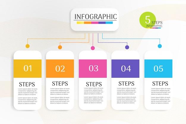 Projekt szablonu biznes plansza element wykresu. Premium Wektorów