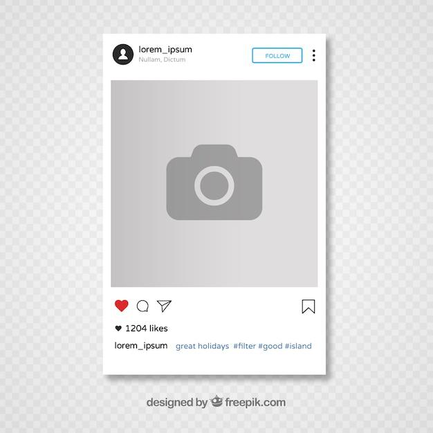 Projekt szablonu instagram Darmowych Wektorów