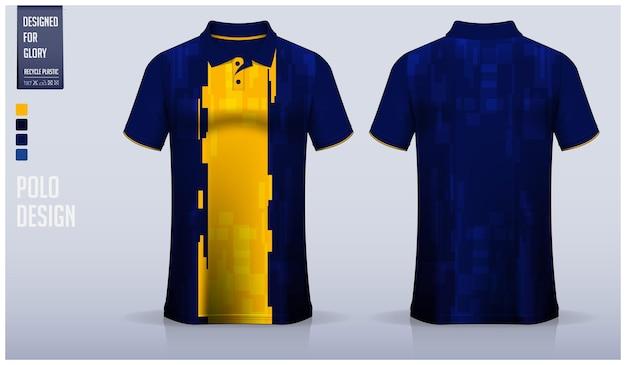 Projekt Szablonu Koszulki Polo. Premium Wektorów