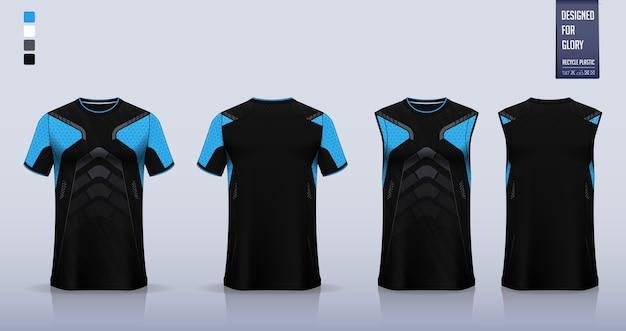 Projekt Szablonu Koszulki Sportowej T-shirt. Premium Wektorów