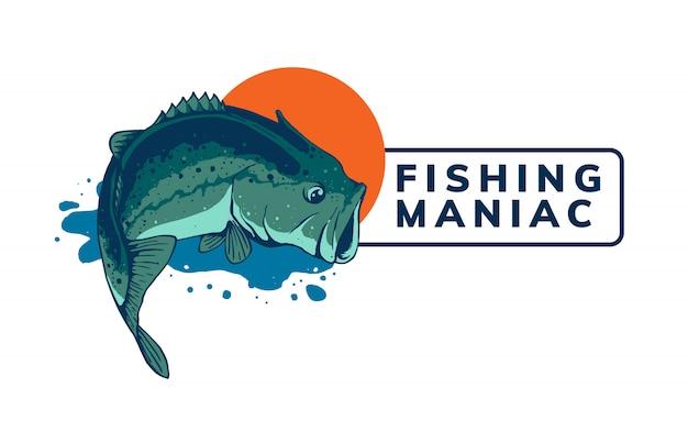 Projekt Szablonu Logo Połowów Premium Wektorów