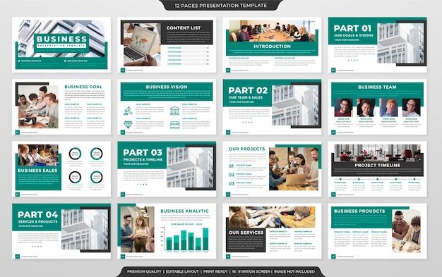Projekt Szablonu Prezentacji Profilu Firmy W Minimalistycznym Stylu I Czystym Układzie Premium Wektorów