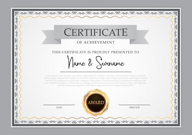 Projekt szablonu rocznika certyfikatu Premium Wektorów