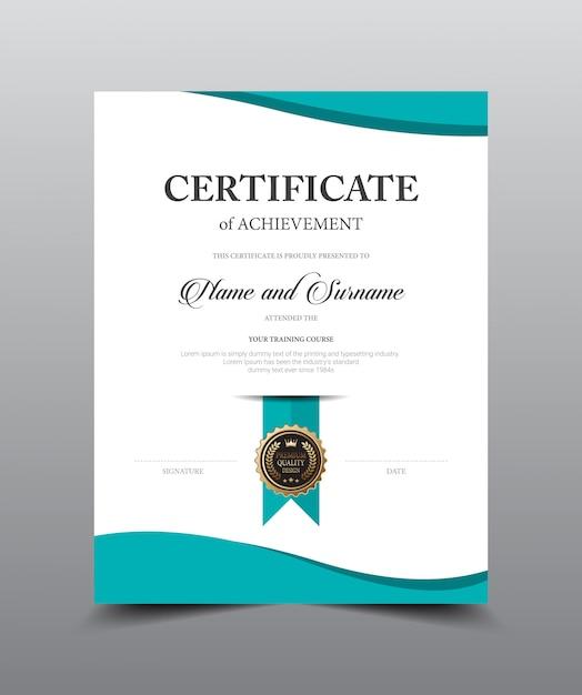 Projekt szablonu układu certyfikatu. luksusowy i nowożytny styl, wektorowa ilustracyjna grafika. Premium Wektorów
