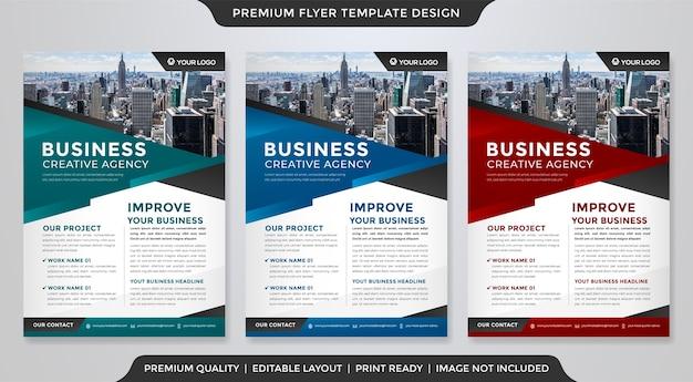 Projekt Szablonu Ulotki Biznesowej W Stylu Premium Premium Wektorów