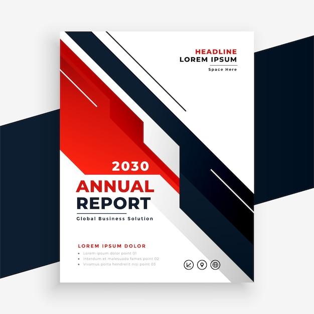 Projekt Szablonu Ulotki Raportu Rocznego Geometryczny Czerwony Biznes Darmowych Wektorów
