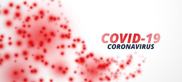 Projekt Sztandaru Cząstek Wirusa Koronawirusa Covid-19 Darmowych Wektorów