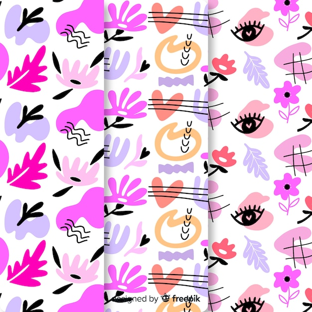 Projekt tapety z kolekcją wzorów Darmowych Wektorów