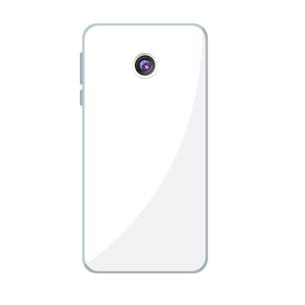 Projekt Telefonu Komórkowego Z Tylną Kamerą Premium Wektorów