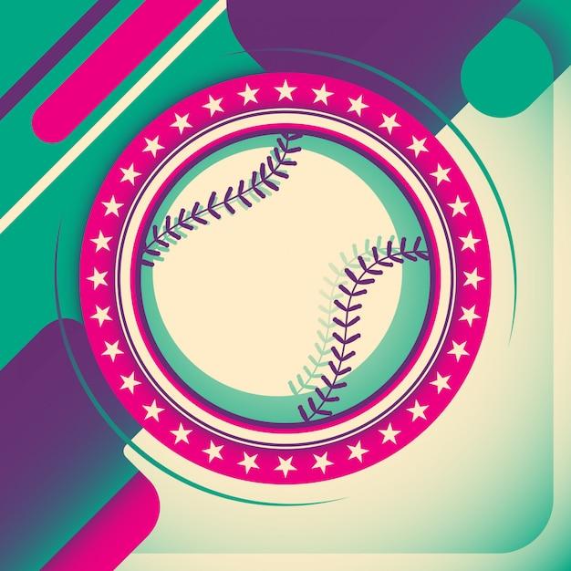 Projekt tła baseball Premium Wektorów