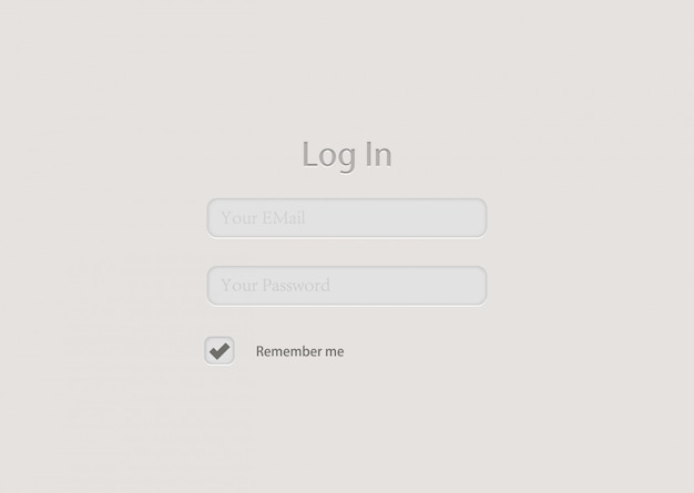 Projekt Tła Formularza Logowania Premium Wektorów