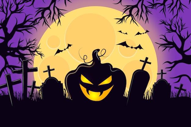 Projekt Tła Halloween Darmowych Wektorów