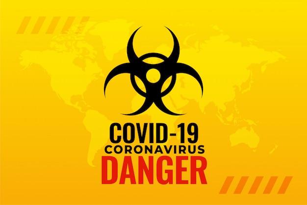 Projekt Tła Pandemii Wirusa Pandemii Covid-19 Darmowych Wektorów