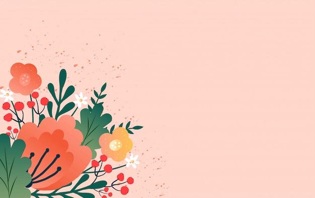 Projekt Transparent Sprzedaż Z Wiosennych Kwiatów. Premium Wektorów