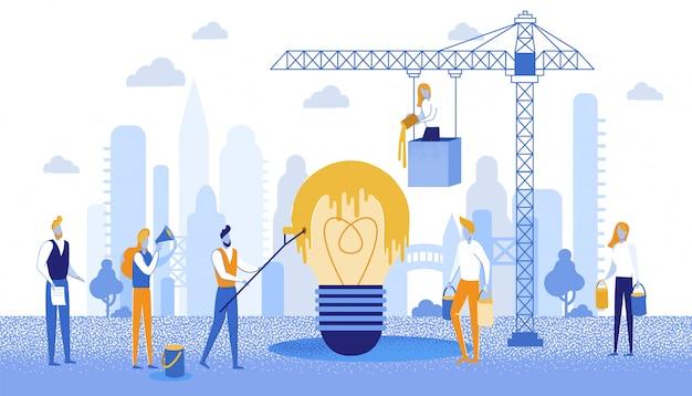 Projekt Transparentu Informacyjnego Kolorystyka Pomysł Na Biznes. Premium Wektorów