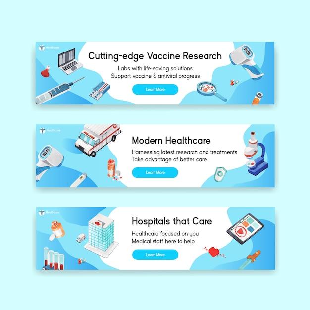 Projekt Transparentu Opieki Zdrowotnej Ze Szpitalem, Lekarzem I Apteką Darmowych Wektorów