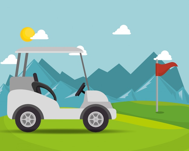 Projekt turnieju golfowego Premium Wektorów