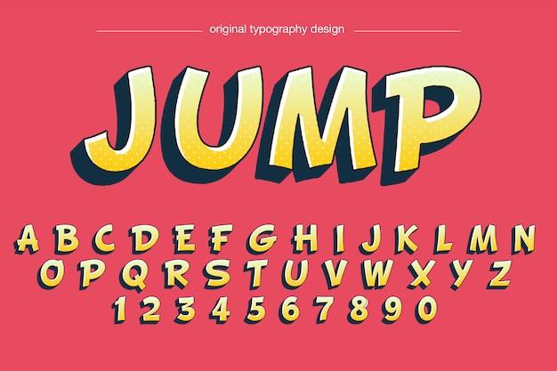 Projekt typografii stylu kreskówki Premium Wektorów