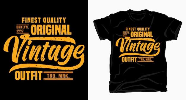 Projekt Typografii Vintage Strój Na Koszulkę Premium Wektorów