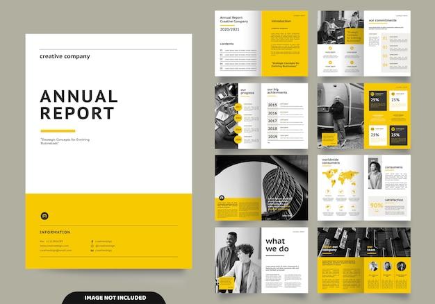 Projekt Układu Szablonu Ze Stroną Tytułową Dla Profilu Firmy I Broszur Premium Wektorów