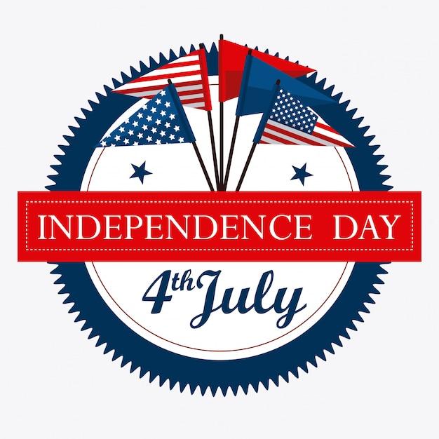 Projekt Usa. Dzień Niepodległości 4 Lipca Darmowych Wektorów