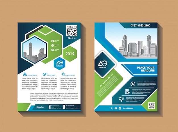 Projekt wektor dla katalogu okładki broszury czasopisma i ulotki Premium Wektorów
