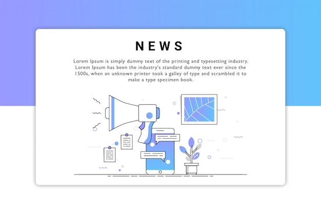 Projekt Wektor Wiadomości Premium Wektorów