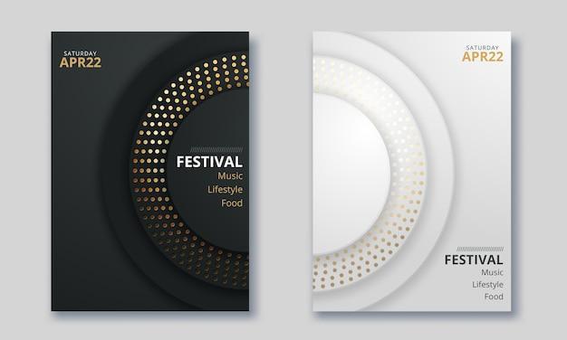 Projekt Wektorowy Raportu Z Okładki, Broszury, Ulotki, Plakatu W Formacie A4 Premium Wektorów