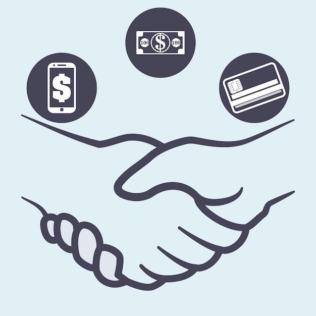 Projekt Wstrząsania Ręką Premium Wektorów